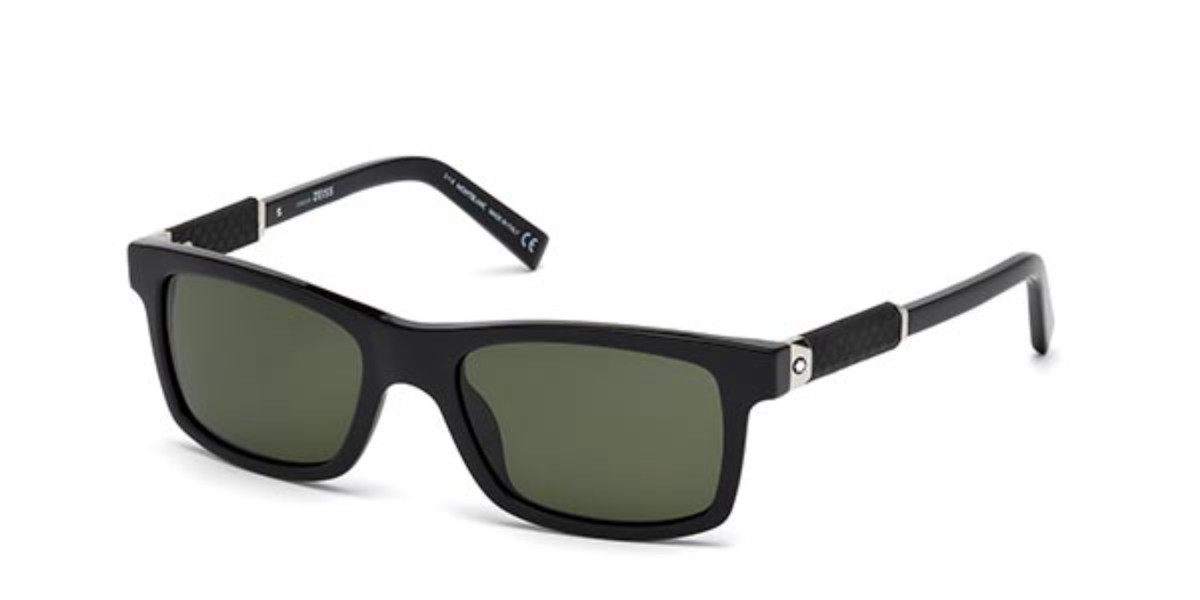Mont Blanc MB646S 01N Men's Sunglasses Black Size 54