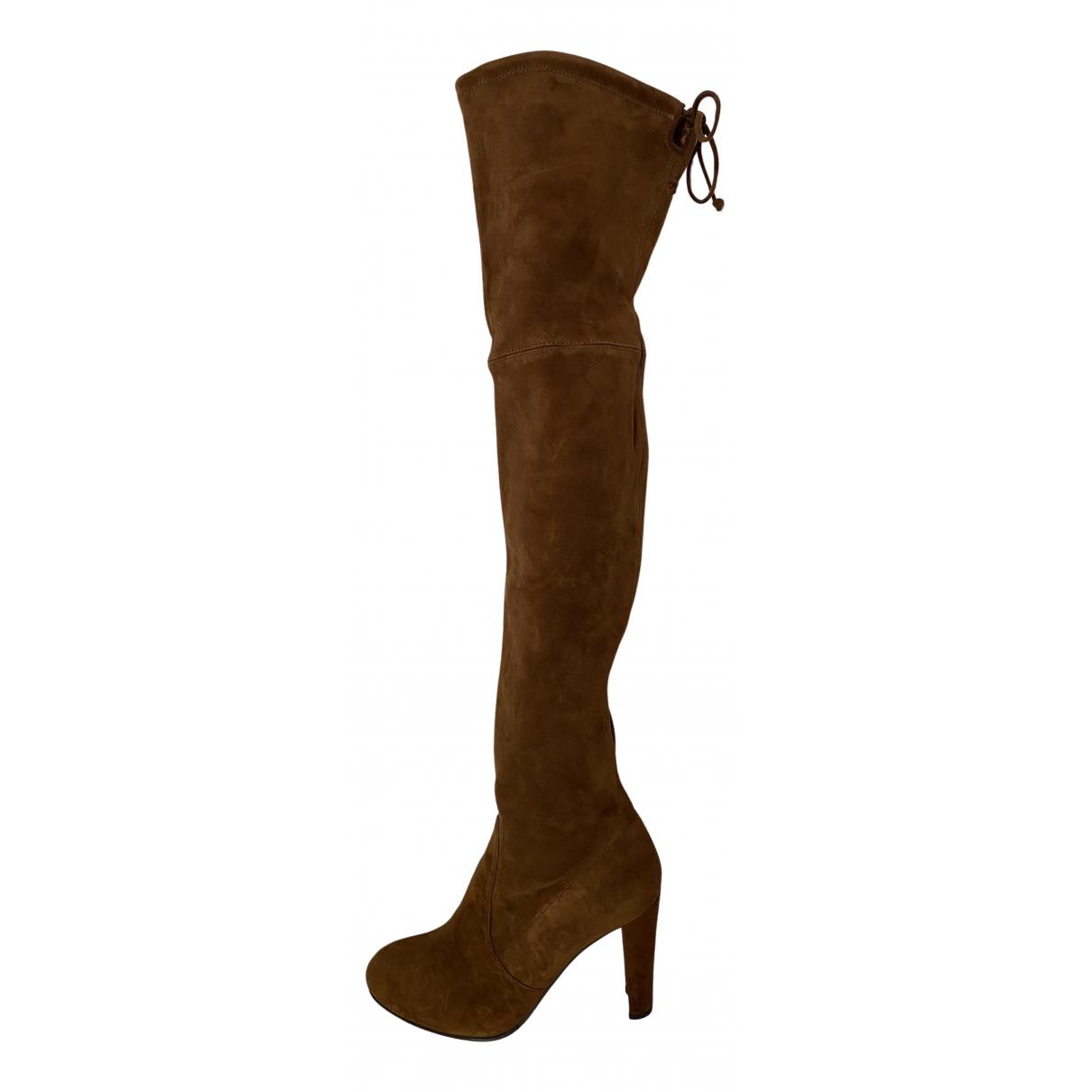 Stuart Weitzman \N Brown Suede Boots for Women 36.5 EU