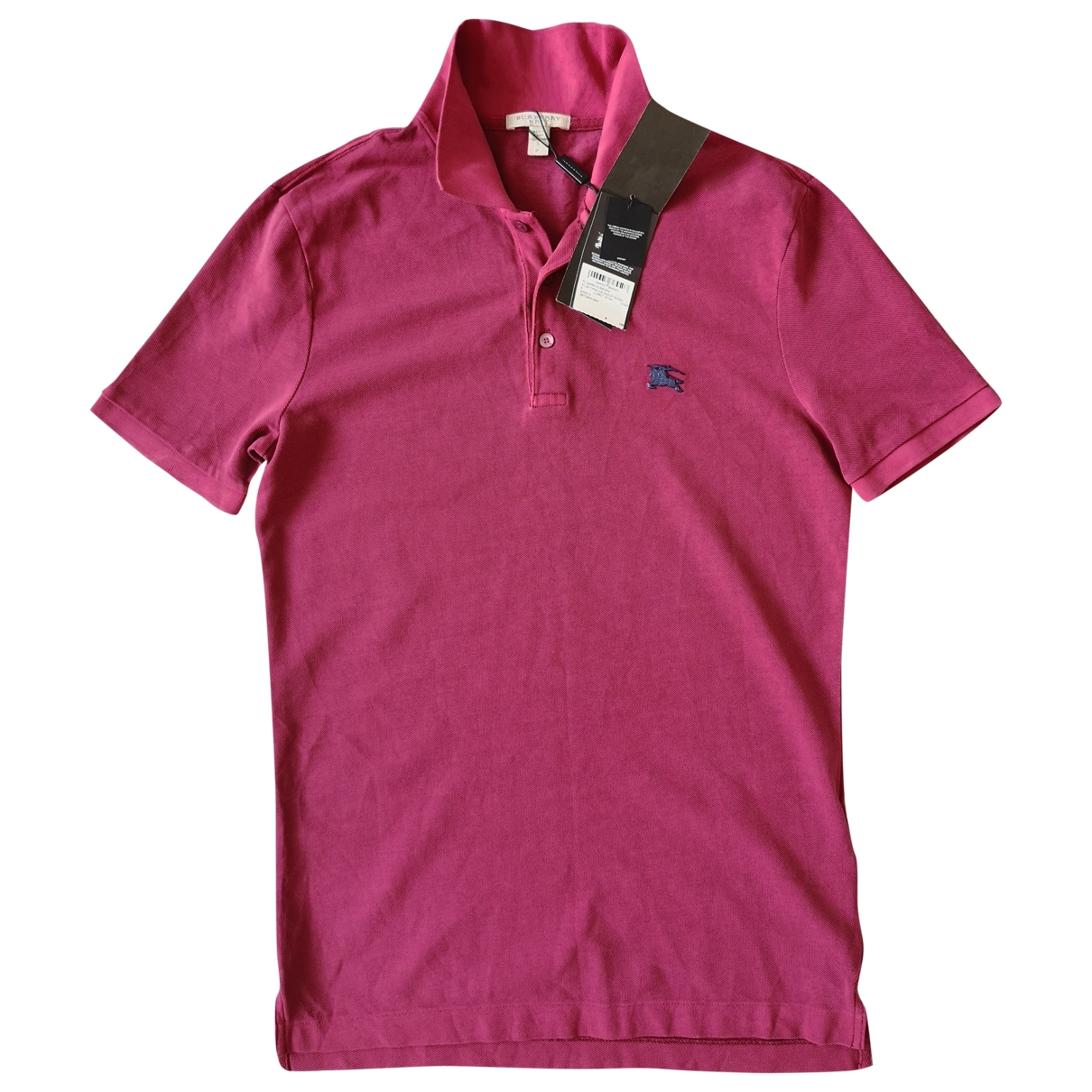 Burberry - Polos   pour homme en coton - rose