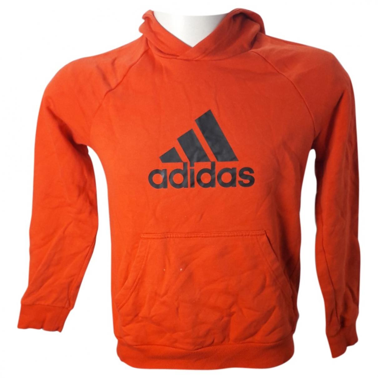 Adidas - Pull   pour enfant en coton - orange