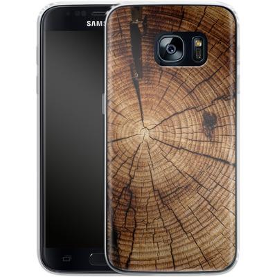 Samsung Galaxy S7 Silikon Handyhuelle - Tree Rings von caseable Designs