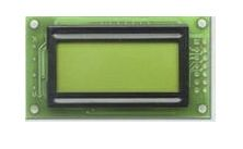 Fordata FC0802B00-RNNYBW-66SE FC LCD LCD Graphic Display, Green, Yellow on, 2 Rows by 8 Characters, Reflective