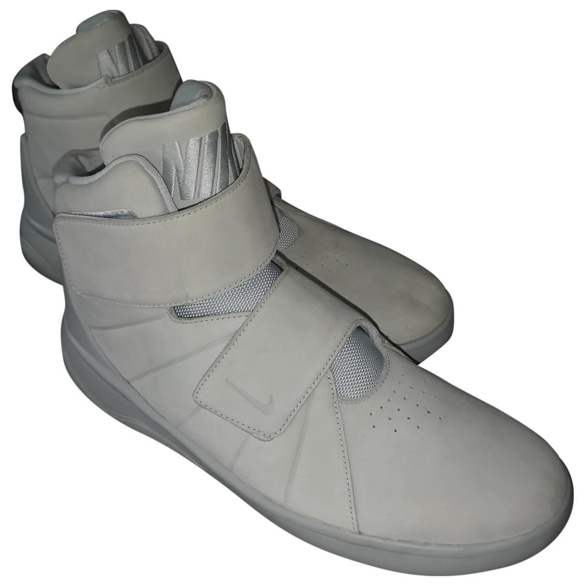 Nike - Baskets   pour homme en suede - blanc