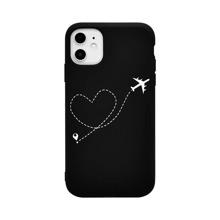 iPhone Schutzhuelle mit Herzen und Flugzeug Muster