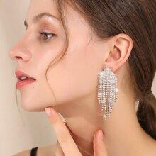 Ohrringe mit Strass Dekor