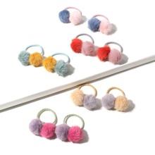 5 Paar Maedchen Pom Pom Haarband