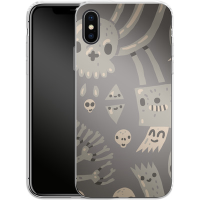 Apple iPhone X Silikon Handyhuelle - Cartoon Bones von caseable Designs