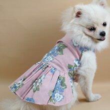 Flower Print Dog Dress