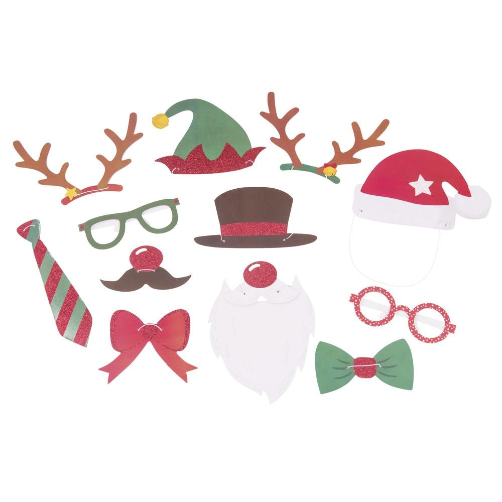 Photobooth Kit fuer Weihnachten x12