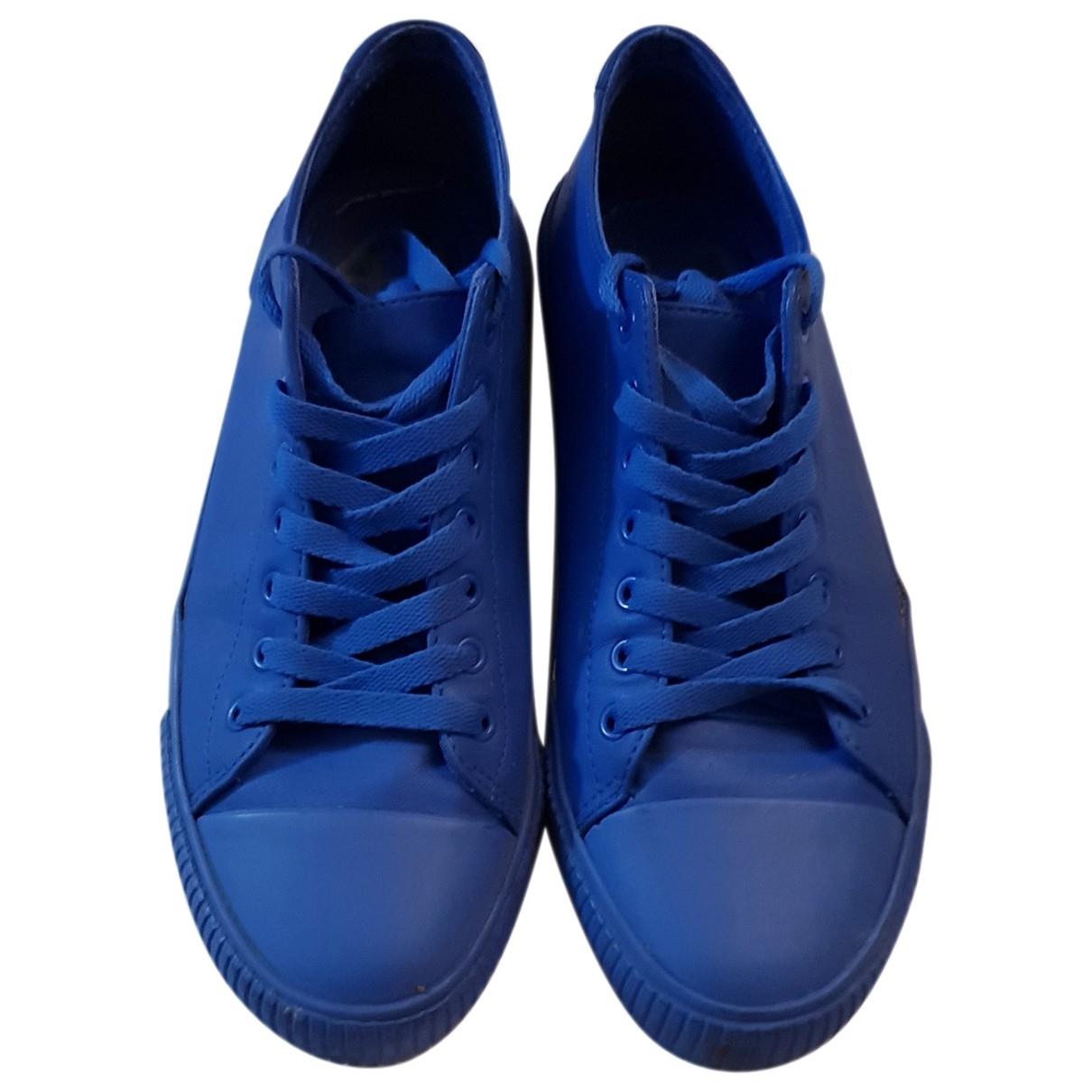 - Baskets   pour homme en caoutchouc - bleu