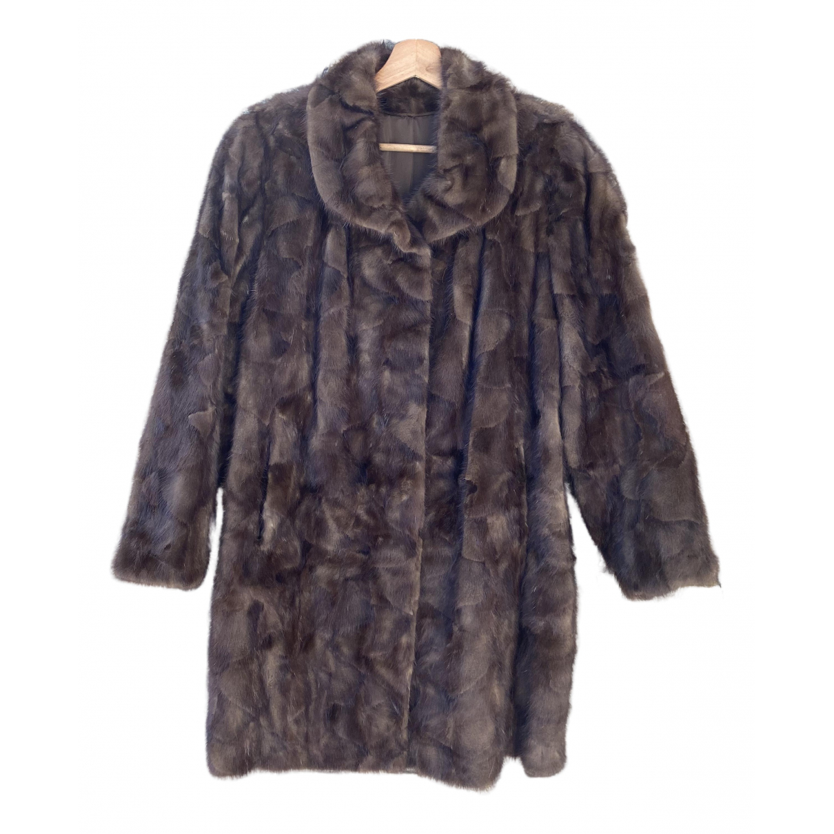 Non Signé / Unsigned N Brown Mink coat for Women One Size FR