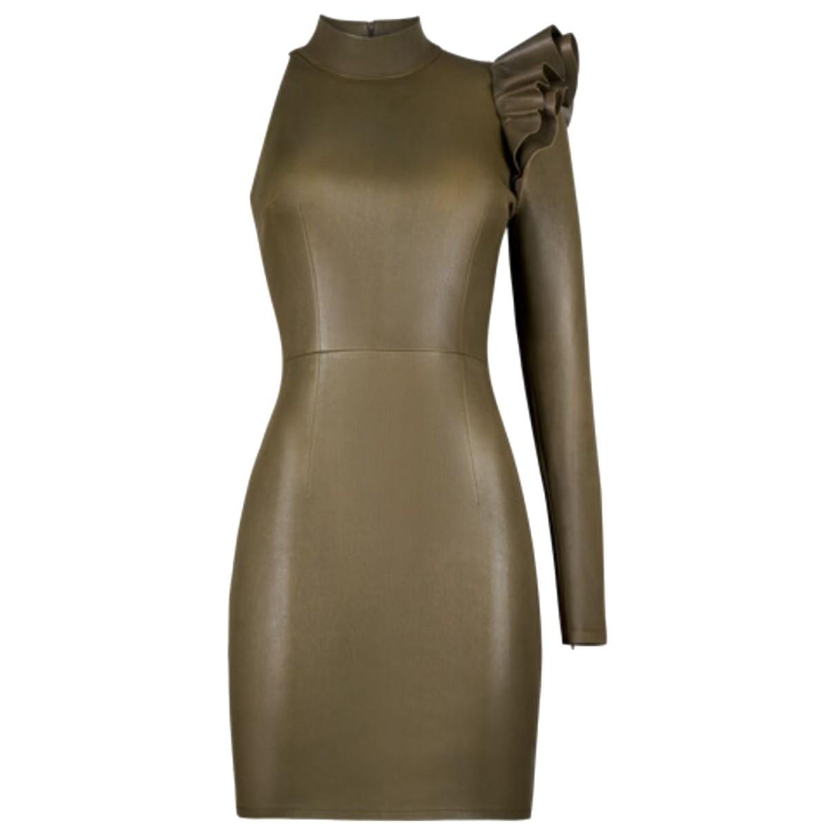 Zeynep Arcay - Robe   pour femme en cuir - vert