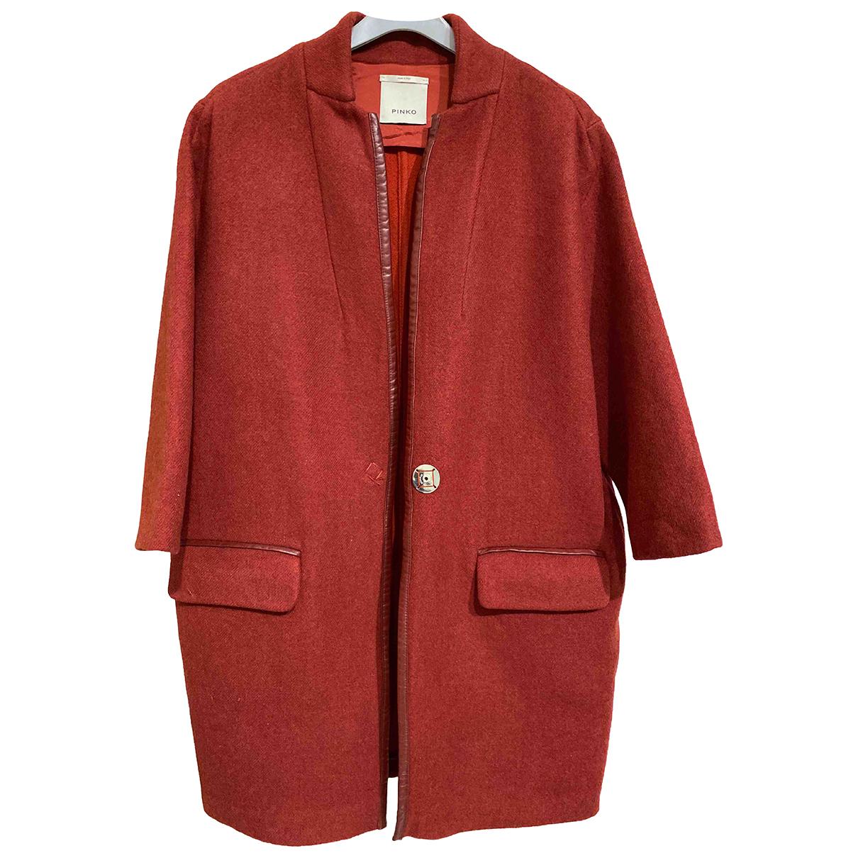 Pinko - Manteau   pour femme en laine - rouge