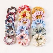 16 Stuecke Haarband mit Blumen Muster