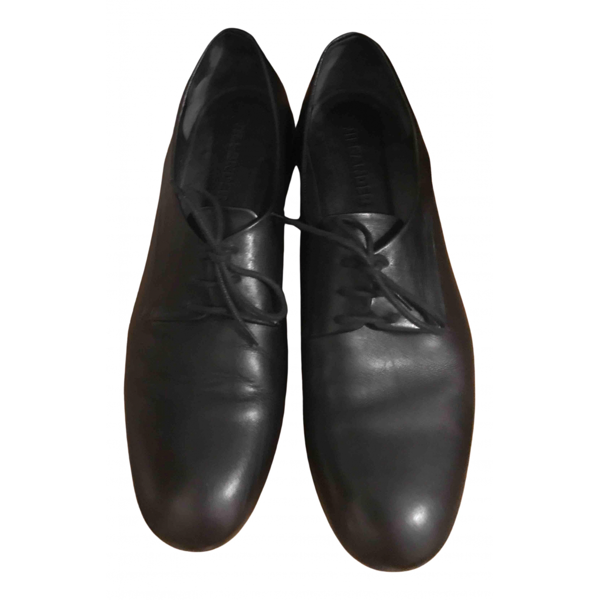 Jil Sander - Derbies   pour femme en cuir - noir