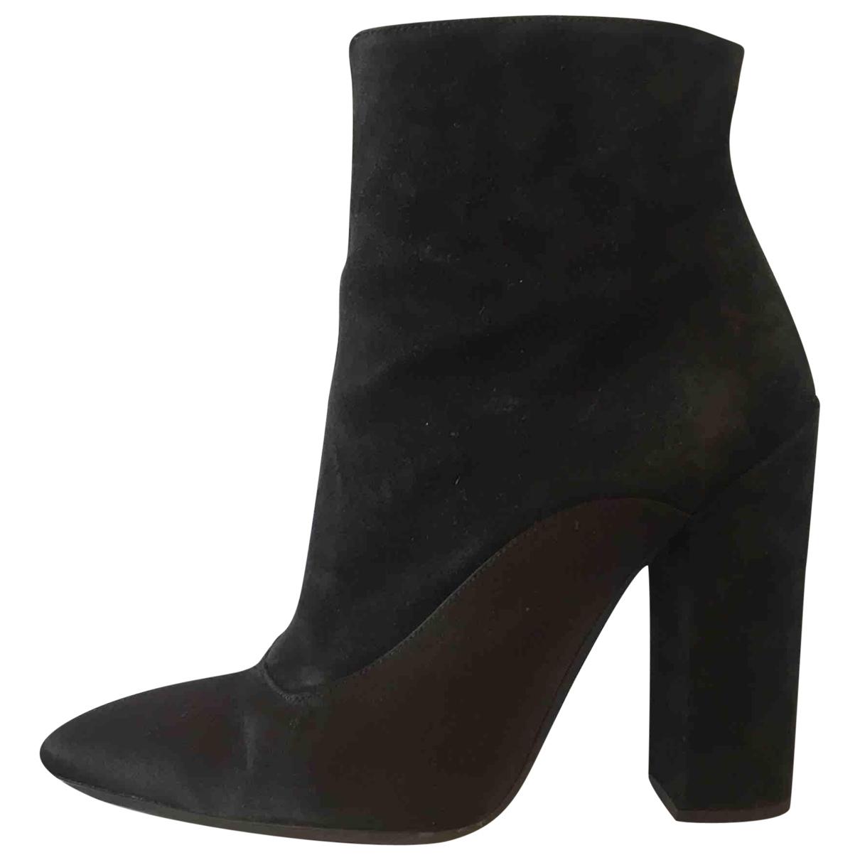 Giambattista Valli \N Black Suede Ankle boots for Women 39 EU
