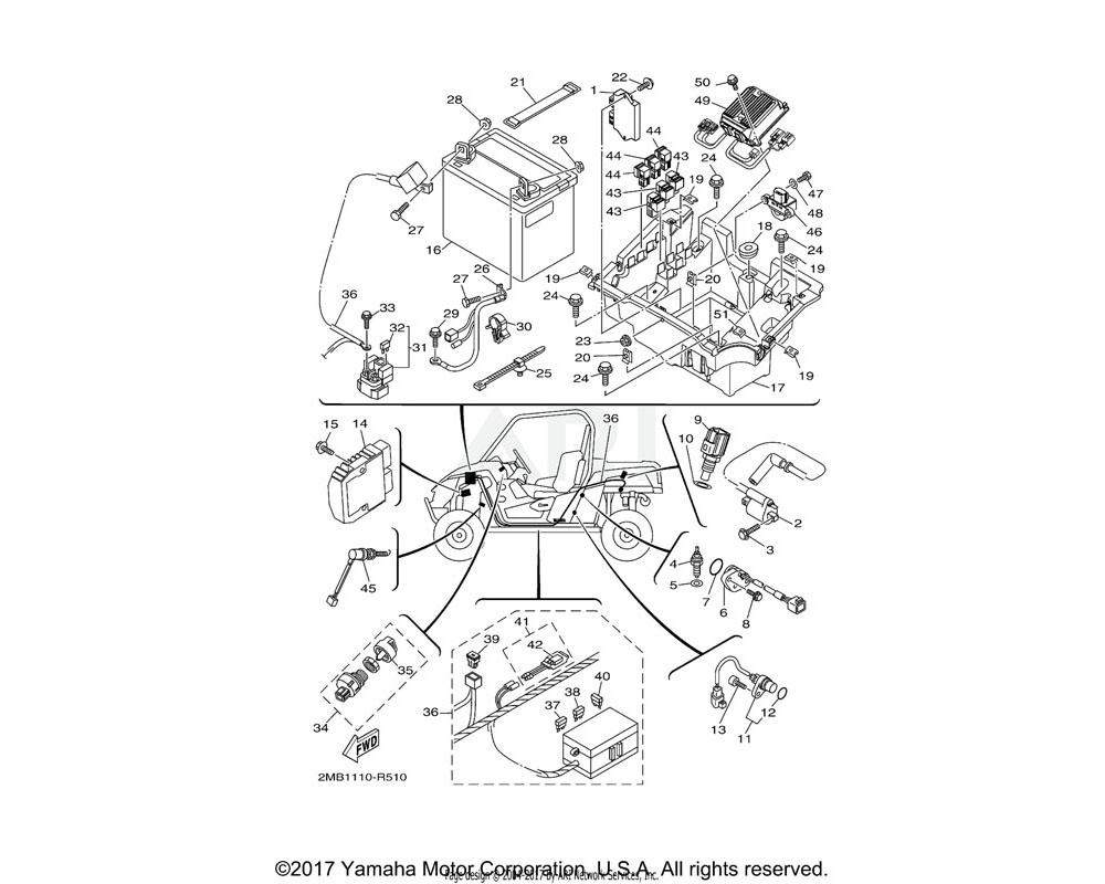 Yamaha OEM 2MB-H2116-00-00 WIRE, MINUS LEAD