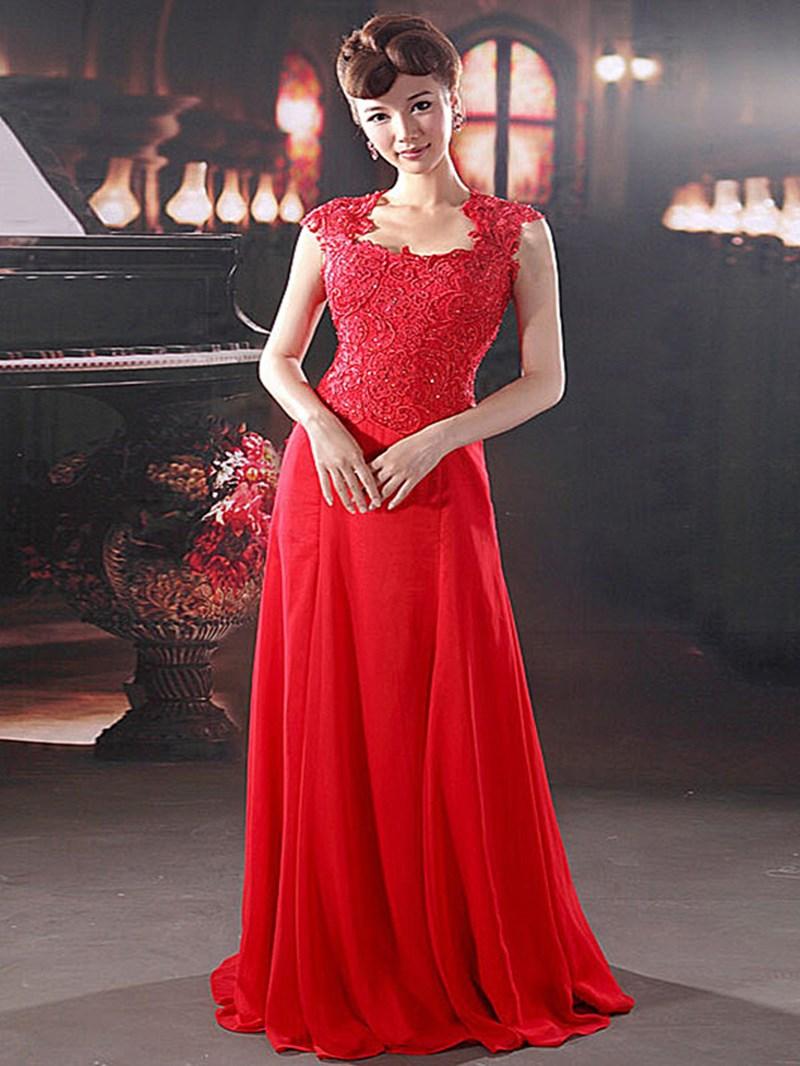 Ericdress Graceful Floor-Length Evening Dress