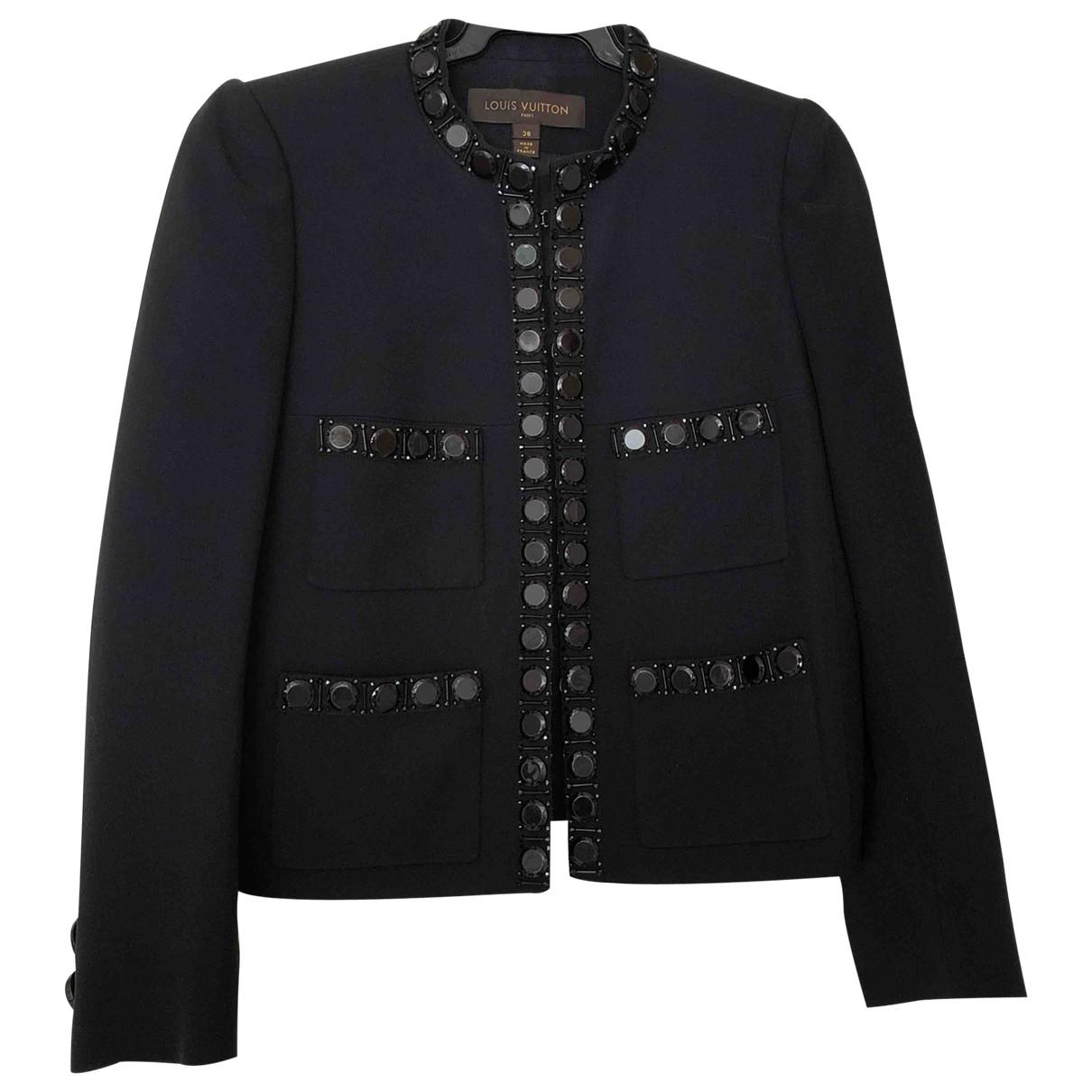 Louis Vuitton \N Jacke in  Schwarz Synthetik