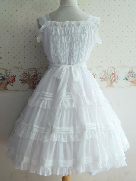 Milanoo Dulce botones poliester Lolita vestido