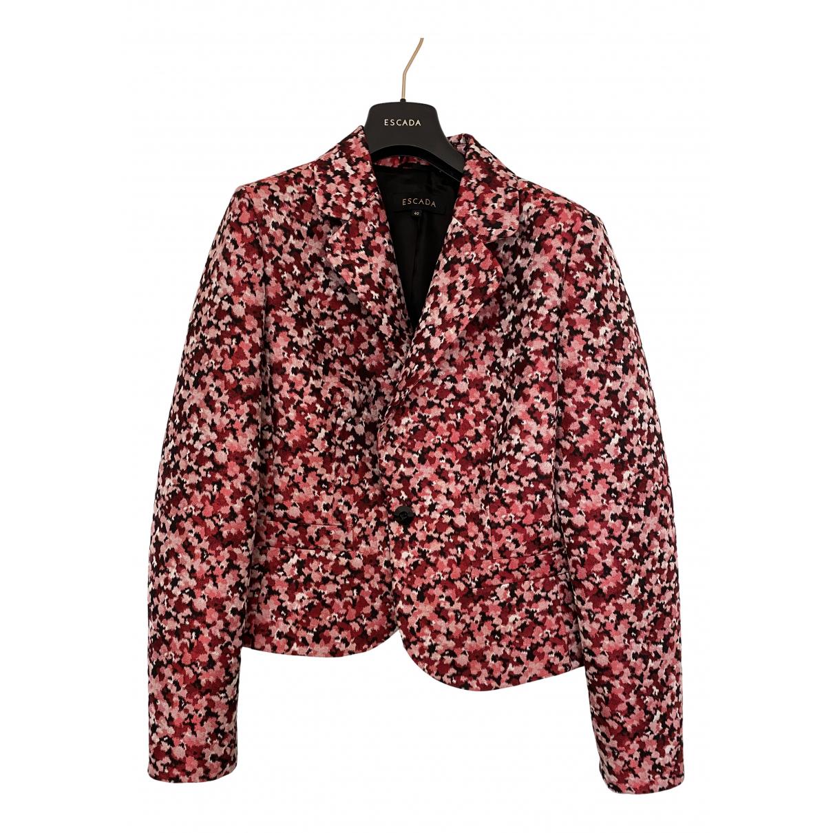 Escada N Burgundy Silk jacket for Women 42 FR