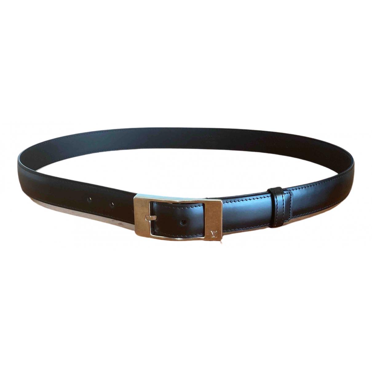 Louis Vuitton \N Guertel in  Schwarz Leder