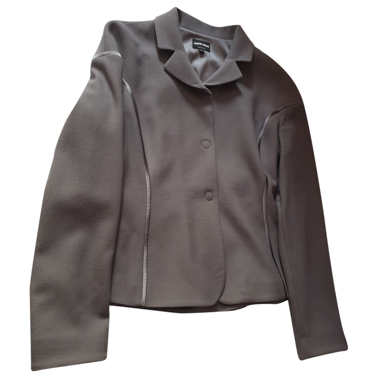 Giorgio Armani - Veste   pour femme en laine - gris