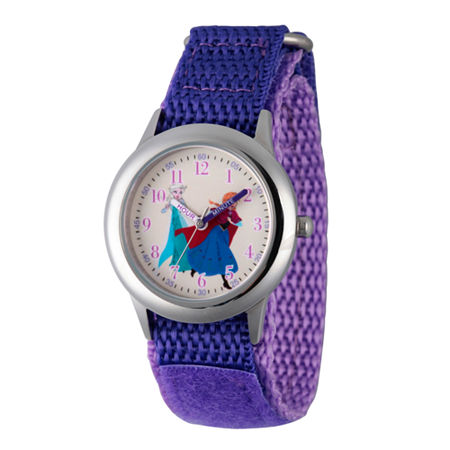 Disney Anna And Elsa Frozen Girls Purple Strap Watch-Wds000208, One Size , No Color Family