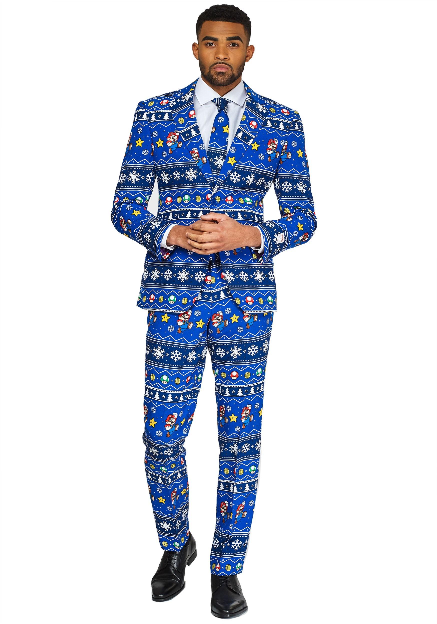 Opposuit Men's Merry Mario Suit