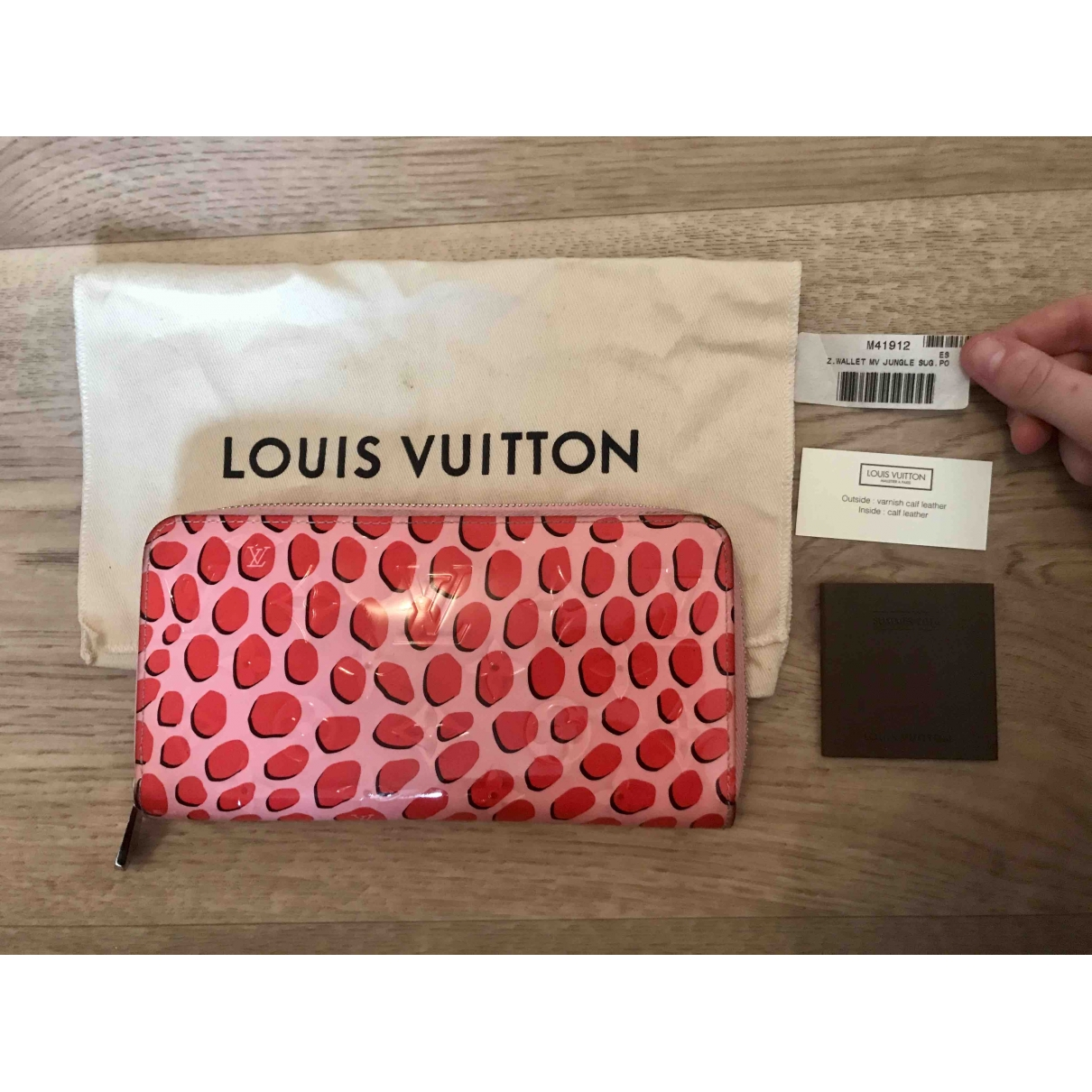 Louis Vuitton Zippy Pink Patent leather wallet for Women \N