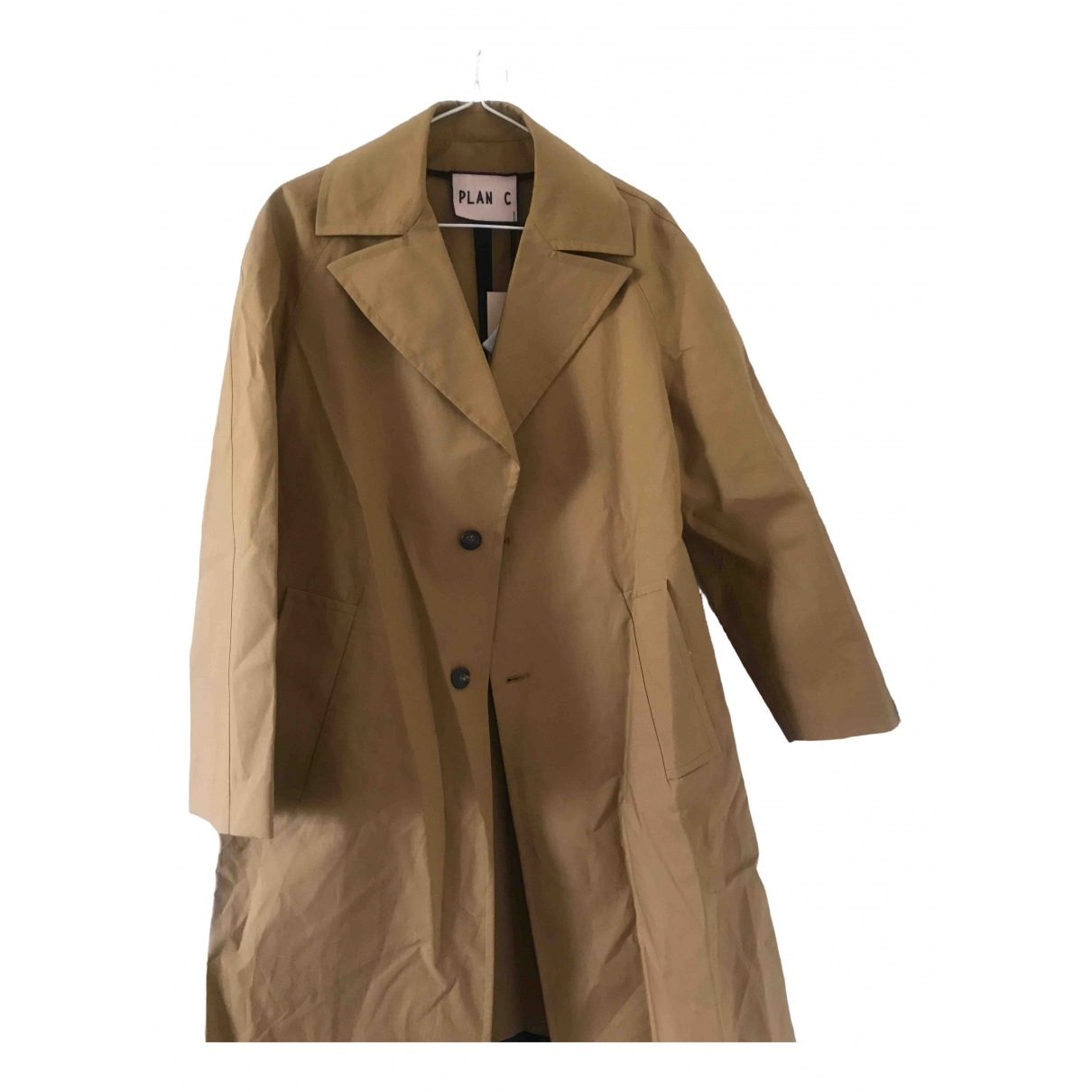 Plan C \N Trench in  Beige Polyester
