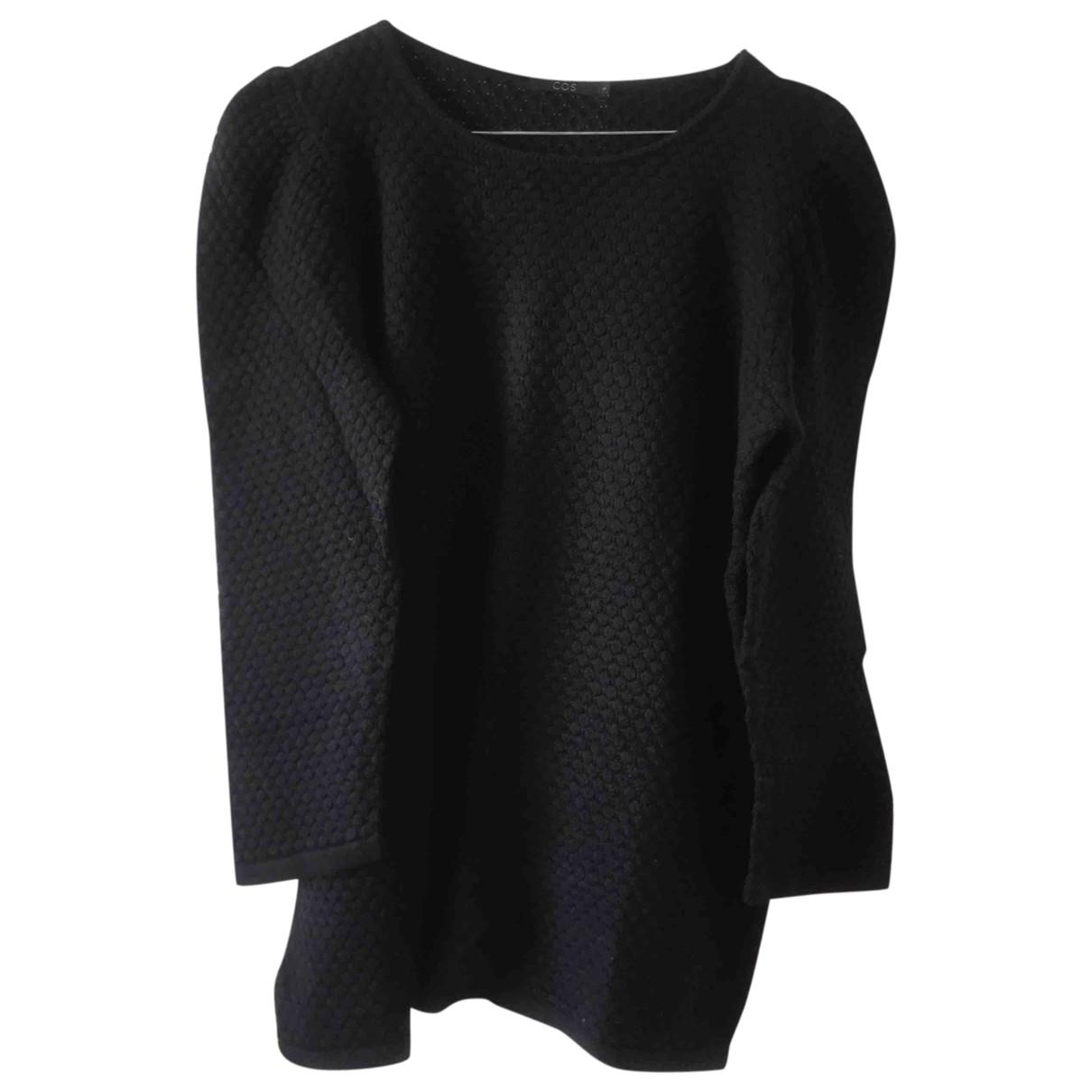 Cos \N Pullover in  Schwarz Baumwolle