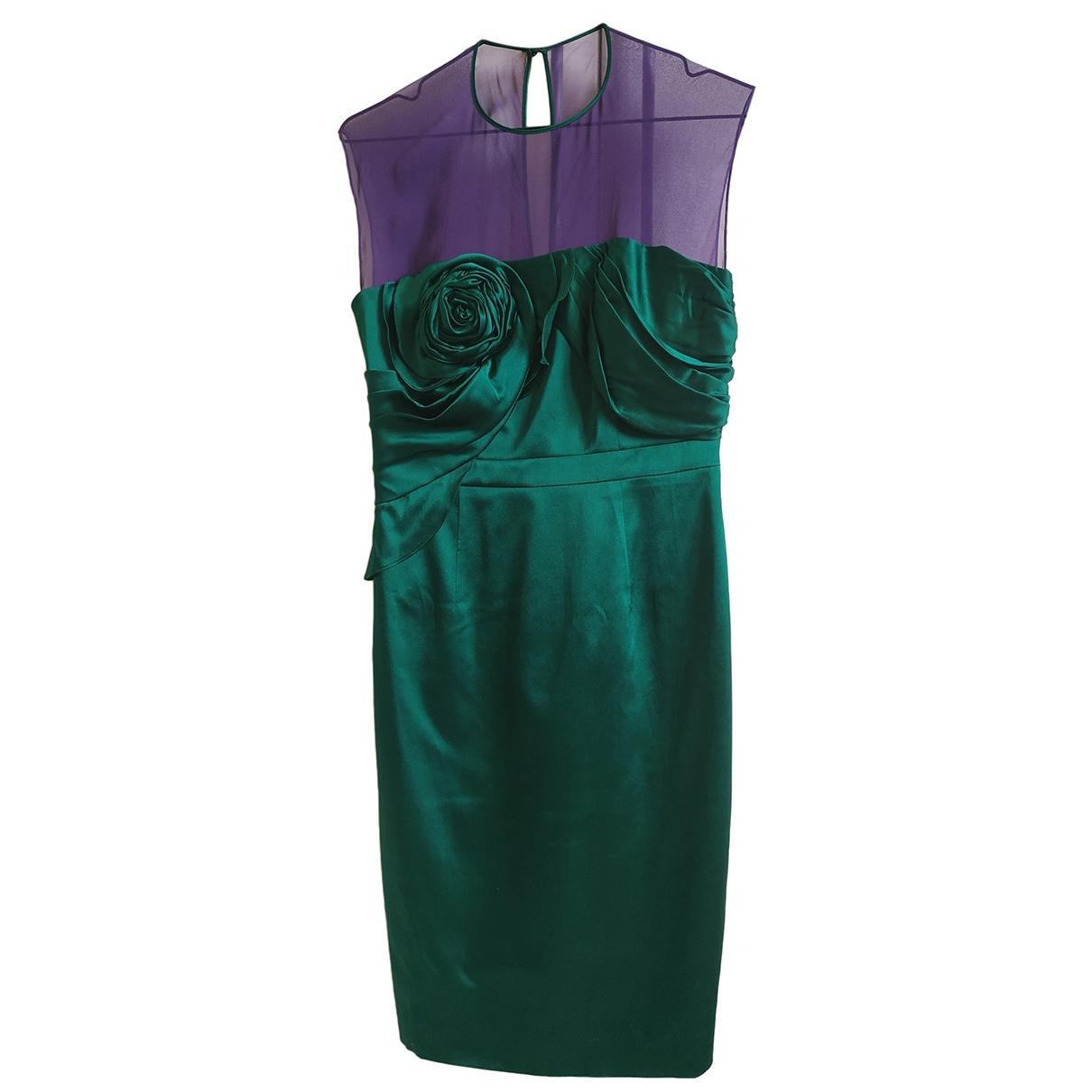Karen Millen \N Green Silk dress for Women 10 UK