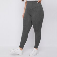 Plus Wide Waistband Leggings