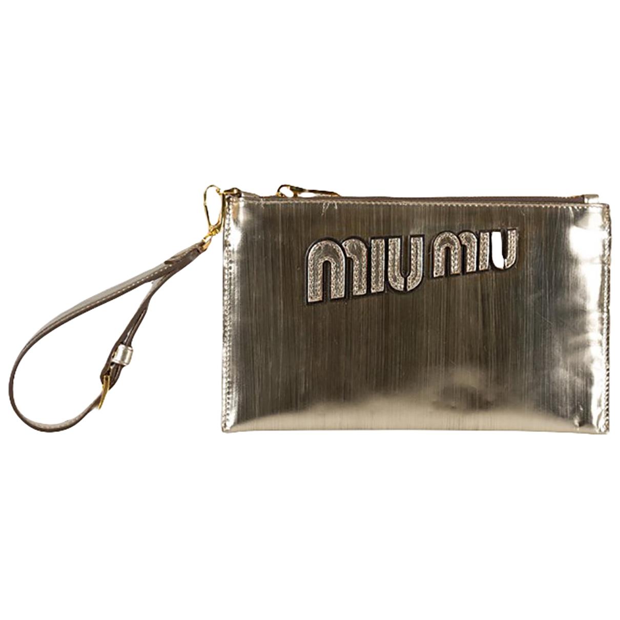 Miu Miu \N Metallic Patent leather Clutch bag for Women \N