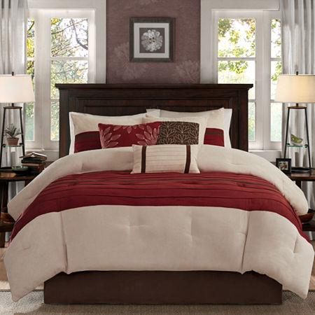 Madison Park Jackson 7-pc. Comforter Set, One Size , Red