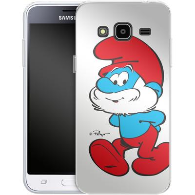 Samsung Galaxy J3 (2016) Silikon Handyhuelle - Papa Smurf von The Smurfs