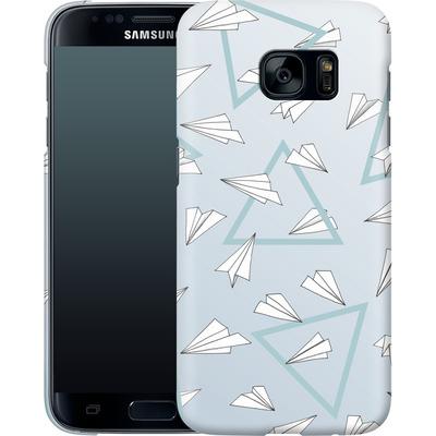 Samsung Galaxy S7 Smartphone Huelle - Paper Planes Blue von Barlena