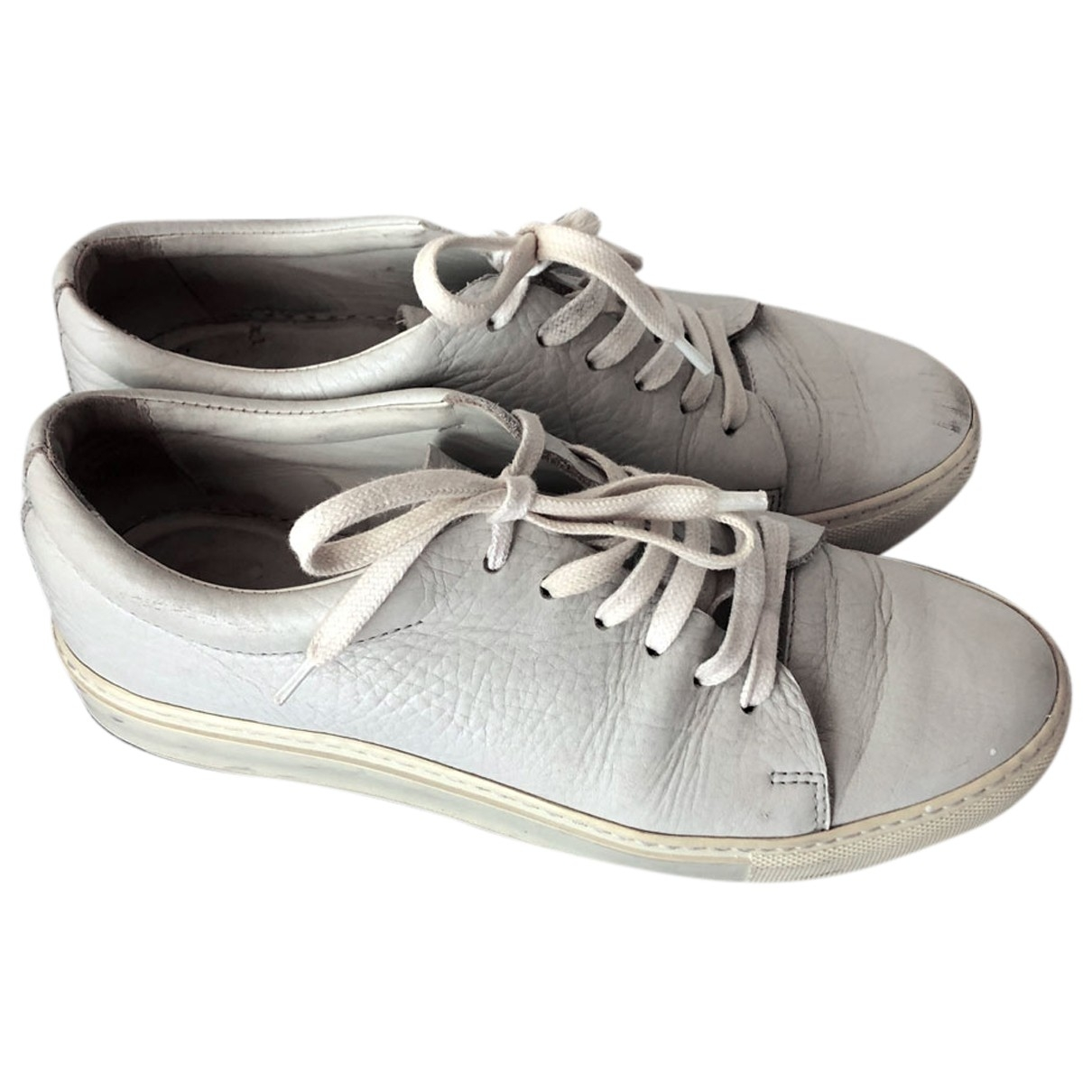 Acne Studios \N White Leather Trainers for Women 39 EU