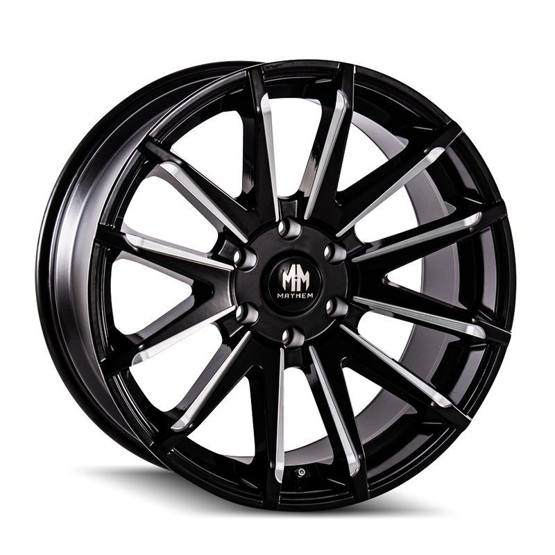 Mayhem Crossfire 8109 Gloss Black Milled 20x9.5 5-150 25mm 110mm Wheel