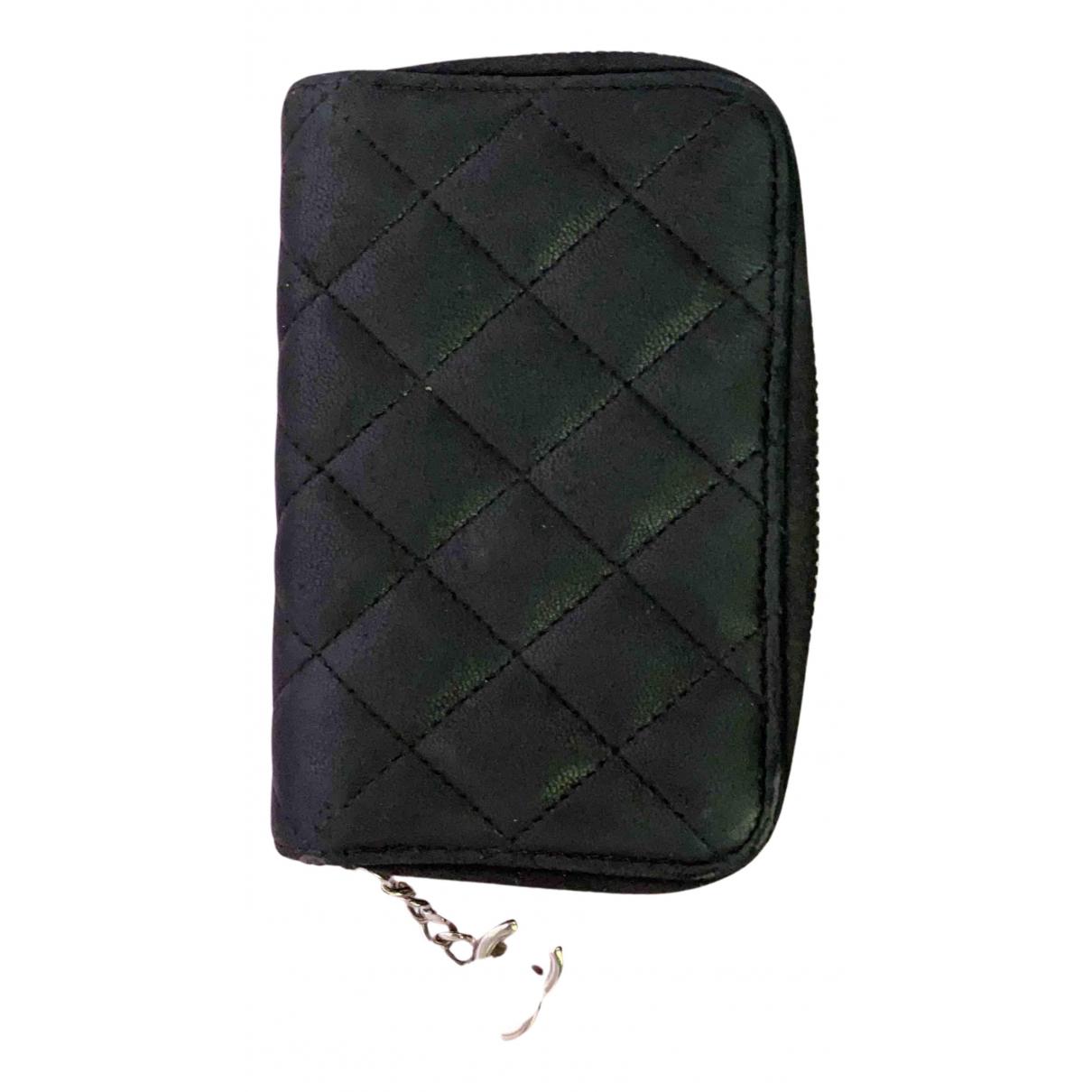 Chanel - Petite maroquinerie Timeless/Classique pour femme en cuir - noir