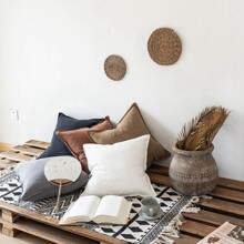 1pc Solid Cushion Cover Without Filler