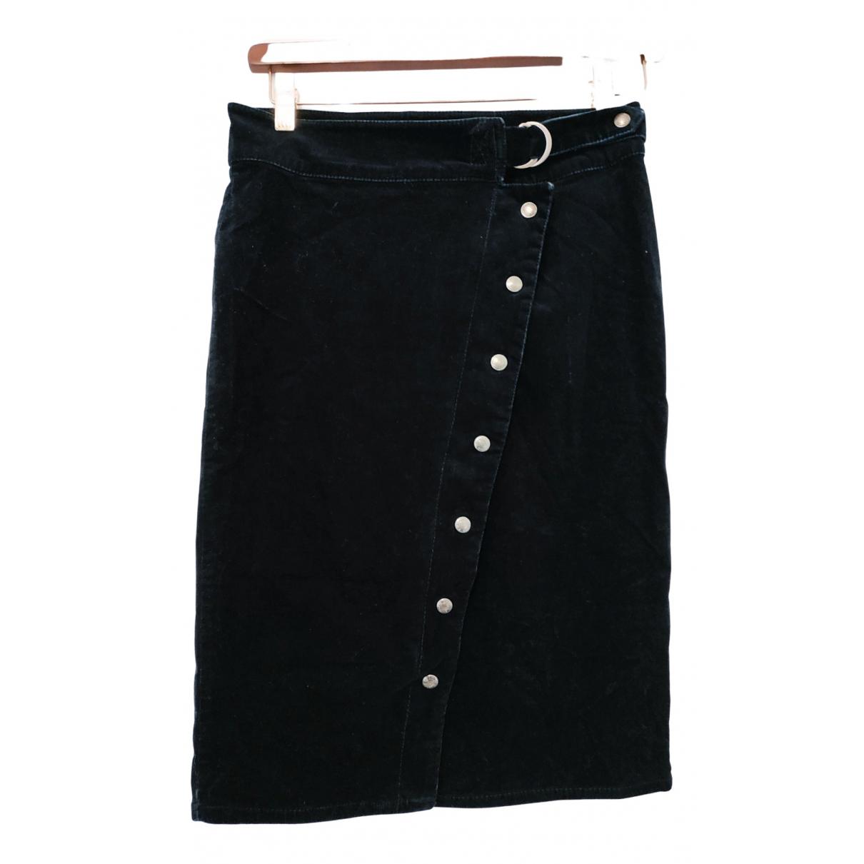 Calvin Klein - Jupe   pour femme en coton - elasthane - noir