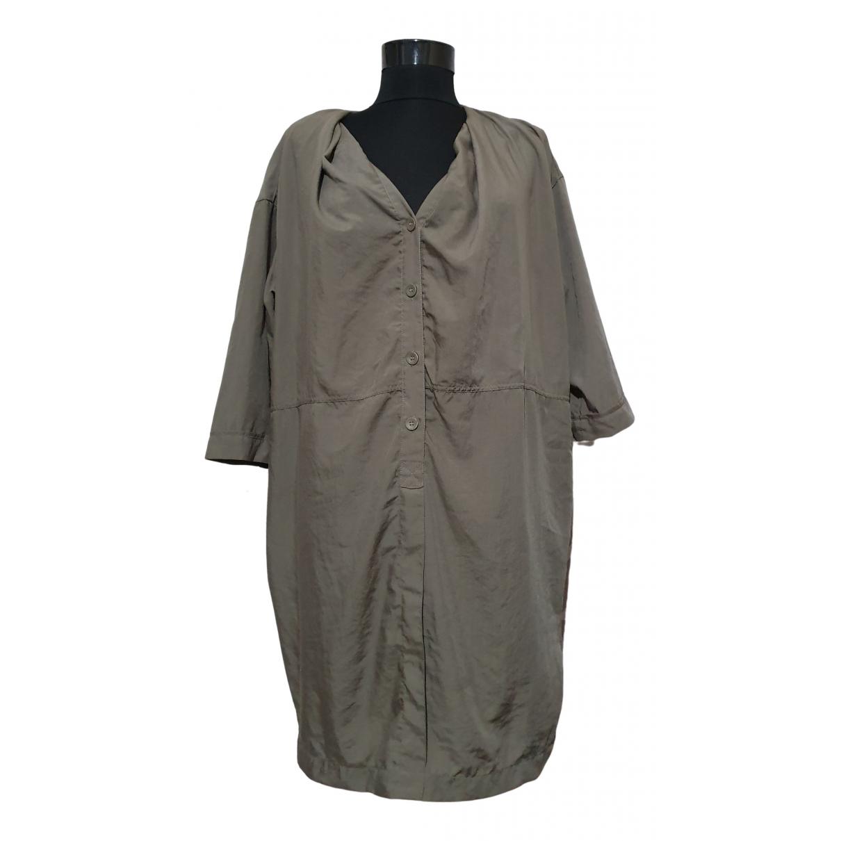 Acne Studios \N Kleid in  Gruen Polyester