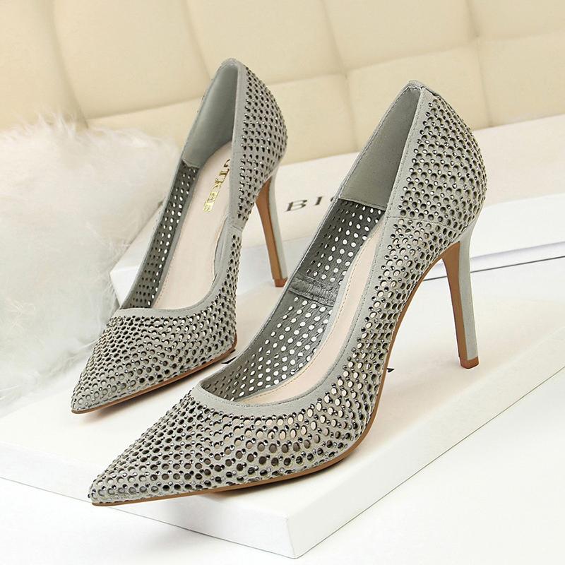Ericdress Slip-On Stiletto Heel Pointed Toe 9.5cm Thin Shoes