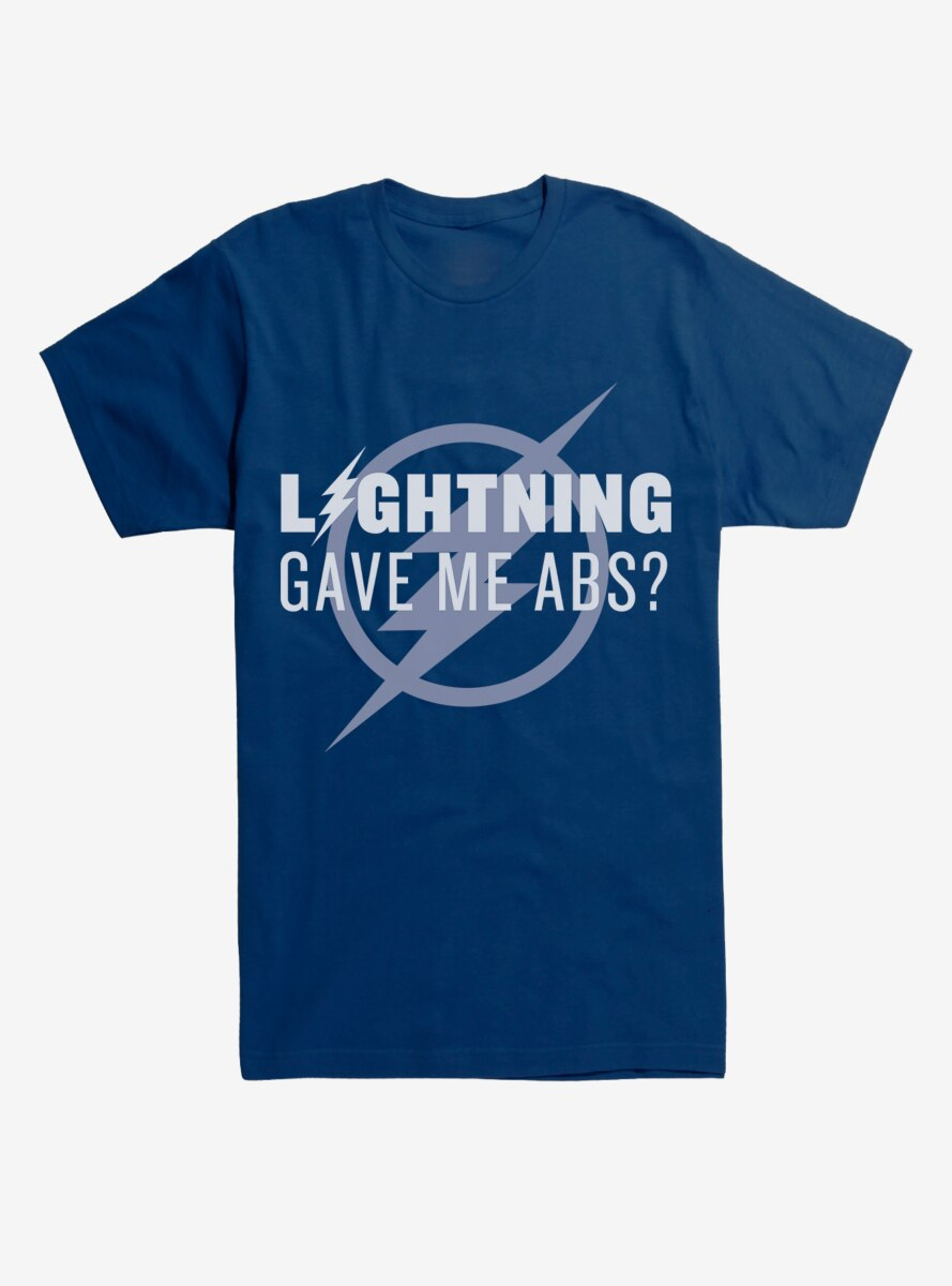 DC Comics The Flash Lightning Gave Me Abs T-Shirt