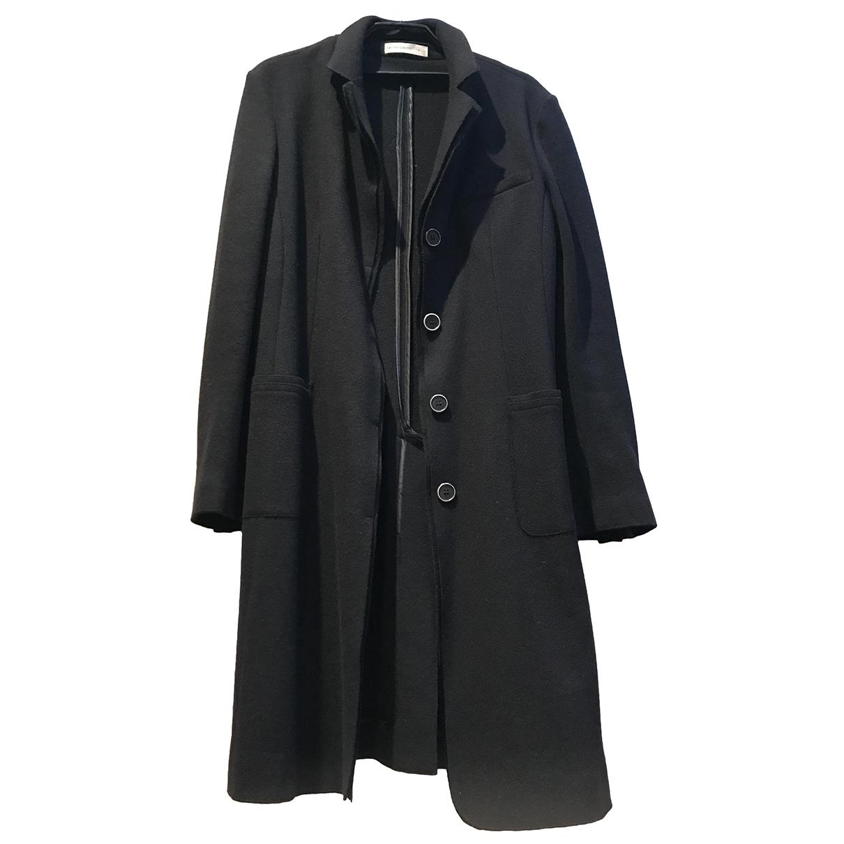Brunello Cucinelli - Manteau   pour femme en laine - noir