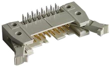 HARTING , SEK 18, 34 Way, 2 Row, Right Angle PCB Header