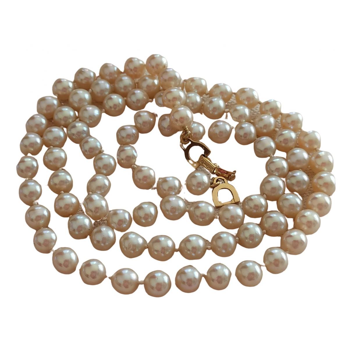 Dior - Collier   pour femme en perles - beige