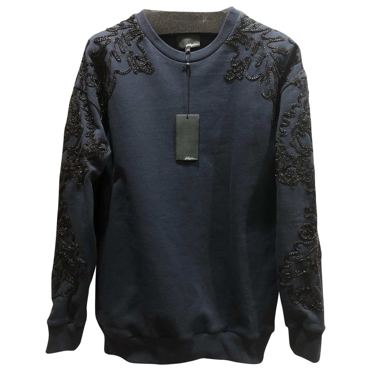 3.1 Phillip Lim \N Navy Cotton Knitwear & Sweatshirts for Men XS International
